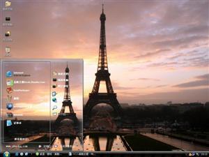 埃菲尔铁塔风景电脑主题