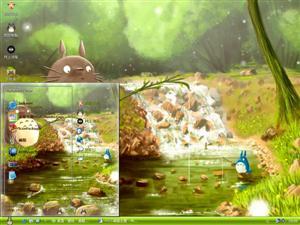 龙猫钓鱼电脑主题