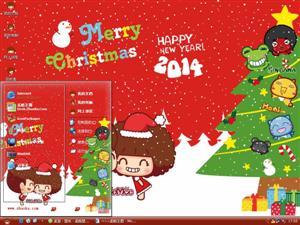 摩丝摩丝过圣诞电脑主题