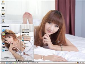 清纯养眼美女写真电脑主题