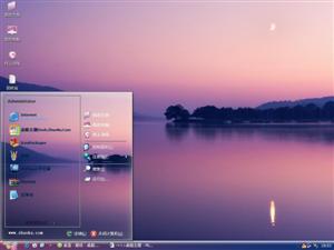 湖面美丽景色电脑主题