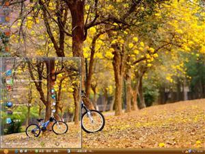 单车唯美风景电脑主题