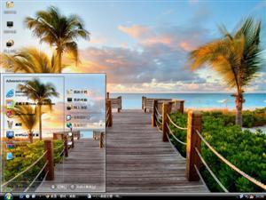 加勒比的海滩电脑主题