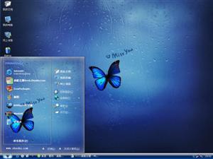 雨中蝶电脑主题