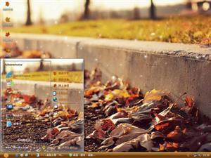 秋天的落叶电脑主题