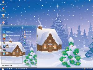 圣诞雪景电脑主题