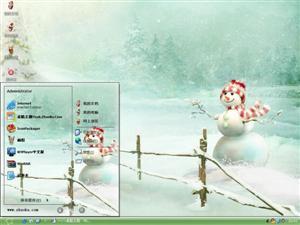 可爱冬季场景电脑主题