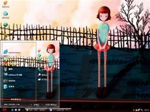 悲伤的小女孩电脑主题