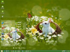 可爱小白兔电脑主题