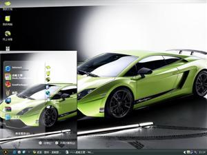 绿色兰博基尼电脑主题