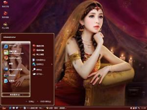 印度古典美女电脑主题