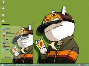可爱卡通兔斯基电脑主题