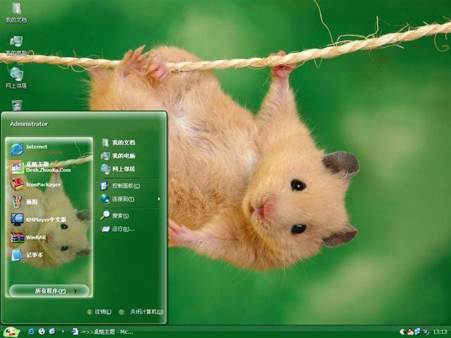 可爱小仓鼠桌面主题