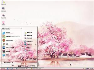 中国风水墨梅花电脑主题