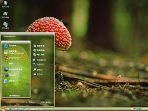 可爱蘑菇电脑主题