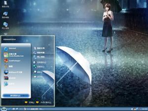雨中的伤感电脑主题