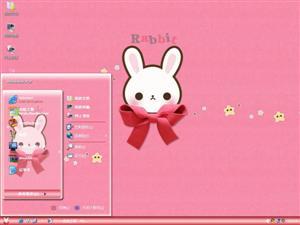 可爱兔子电脑主题