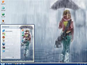 雨中漫步电脑主题