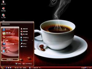 咖啡电脑主题