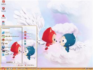 阿狸天使的羽毛电脑主题