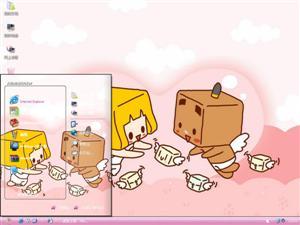 张小盒卡通电脑主题