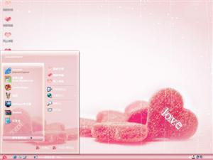 浪漫爱情糖果电脑主题