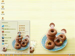 美味甜甜圈电脑主题