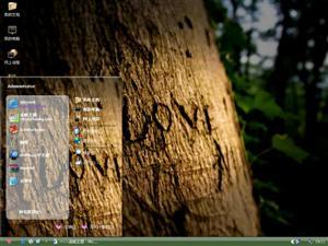 爱情树下电脑主题