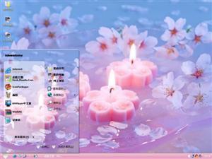 樱花蜡烛电脑主题