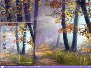 唯美意境手绘森林电脑主题