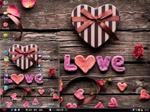 浪漫情人节礼物电脑主题