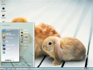 两只小兔电脑主题