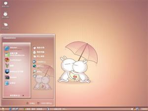 兔斯基情侣电脑主题