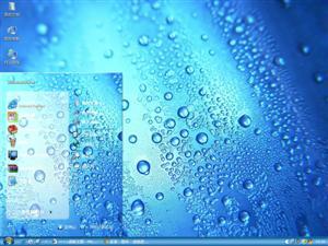 晶莹水珠电脑主题