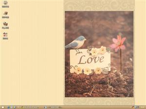 爱情小鸟电脑主题