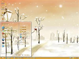 手绘美丽童话风景电脑主题