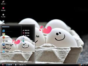 鸡蛋的爱情电脑主题