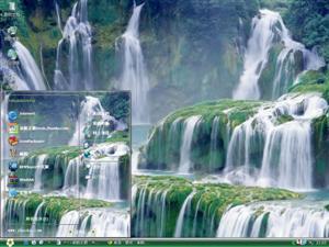 壮观的瀑布电脑主题