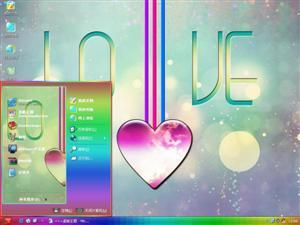 爱情心形吊坠电脑主题