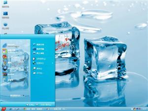 清爽爱情冰块电脑主题