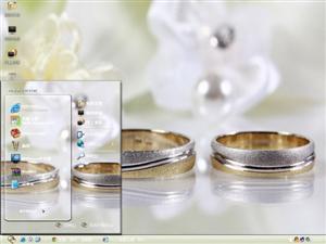 结婚戒指电脑主题