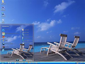 马尔代夫度假海滩电脑主题