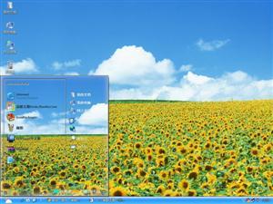 蓝天白云鲜花电脑主题