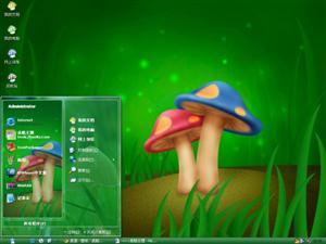 卡通蘑菇电脑主题