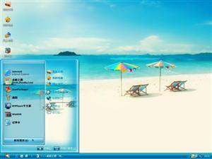 夏日沙滩电脑主题