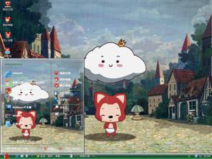 阿狸和小小云电脑主题