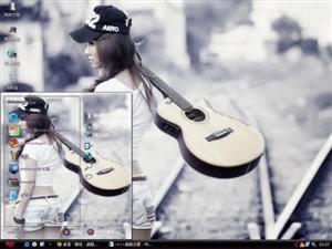 吉他美女电脑主题