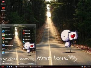 我的初恋可爱卡通电脑主题