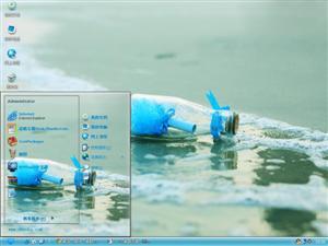 海滩漂流瓶电脑主题