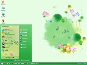 绿色池塘电脑主题